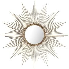 We'd say that sunburst mirrors are making quite a comeback, but the fact is, they never really faded. From Louis XIV to fans of Hollywood Regency style, this look is always a bright idea. Ours creates a big impact even in small spaces, so it's especially brilliant. The center mirror is framed with braided wire, and an antiqued gold finish completes the effect. If history is any indication, you'll love it.