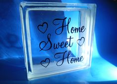 Home Sweet Home - sisustuslasitiili 190x190 sis. reikä valoja varten.