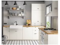 56 Inspiring Ikea Kitchen Ideas for Your Beautiful Home Cheap Countertops, Kitchen Countertops, Kitchen Cabinets, White Cabinets, Diy Kitchen, Kitchen Dining, Kitchen Decor, Kitchen Ideas, Kitchen Images