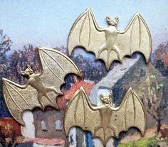 Bats Findings Bat Wings Embossed Embellishments 6 by paperink, $3.50