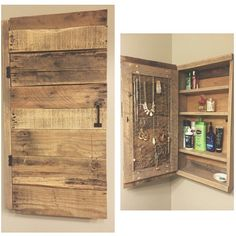 Awesome Reclaimed Wood Jewelry Cabinet