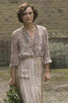 Floral Silk and Lace. Kiera Knightly in Atonement (2007)