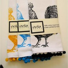 rooster towels