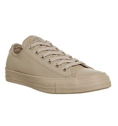 Converse, All Star Low Leather, Ivory Cream Light Gold Exclusive
