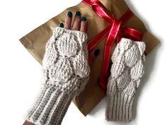 #knitfingerless #fingerlessgloves #ivorygloves #knittedmittens #armwarmers #hadknittedgloves #woolgloves #crochetfingerless #handmadefingerless #bohofingerless #etsy Wool Gloves, Fingerless Gloves Knitted, Crochet Gloves, Wrist Warmers, Hand Warmers, Loom Knitting, Hand Knitting, Handmade Christmas Gifts, Handmade Gifts
