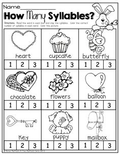 Syllable Worksheet for Kindergarten. 20 Syllable Worksheet for Kindergarten. Syllables at the Zoo Worksheet Syllables Kindergarten, Kindergarten Worksheets, Kindergarten Classroom, Classroom Activities, Preschool Phonics, Homeschool Worksheets, Spring Activities, Teaching Activities, Teaching Ideas