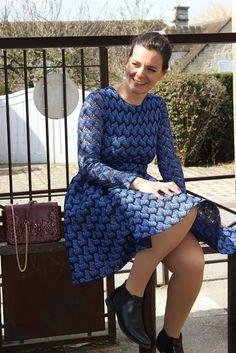 Blog Les petites bulles de ma vie Looks Robe bleue Maje