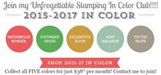 Unfrogettable Stamping | Join my 2015-2017 In Color club!!!