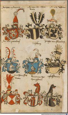 Wappen besonders von deutschen Geschlechtern Süddeutschland ?, 1475 - 1560 Cod.icon. 309  Folio 16r