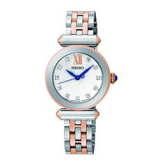 Seiko Ladies' Stone Set Two Tone Bracelet Watch - Product number 1377701