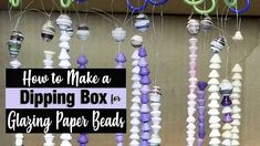 How to Make a Paper Bead Glazing Dipping Box: If you are going to use the dipping or spraying methods of glazing your paper beads, you are going to need a di. Make Paper Beads, How To Make Paper, How To Make Beads, Diy Jewelry, Handmade Jewelry, Jewelry Making, Wire Picture Frames, Origami And Quilling, Paper Crafts