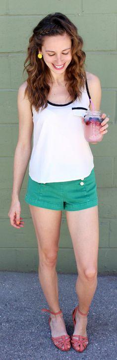 Forever 21 Green Women's Denim Shorts