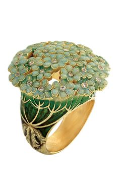"Ilgiz F's ""Hortense"" ring with lifelike champlevé enamelling"