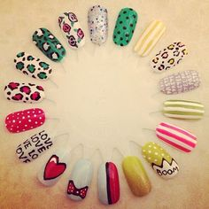 Pastel nail wheel. Discover More: www.thestyleworld.com