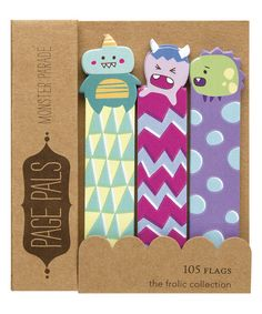 Look at this Monster Friends Page Flag Book - Set of Two on #zulily today!