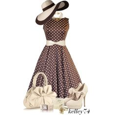 Polka Dottie, created by kelley74 on Polyvore