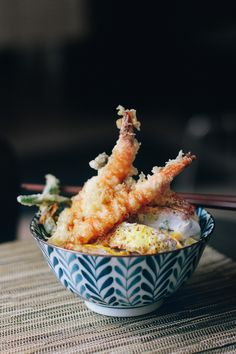 Tempura shrimp and Katsudon, Tokyo Kitchen, Toronto. Lovely little place. I was quite surprised that there were only 3 groups of guests wh...