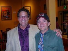 Denny Tedesco and Brian Forster who player drummer Chris Partridge on The Partridge Family TV series at a screening in Napa CA in March of 2013