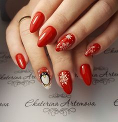 Chistmas Nails, Christmas Manicure, Christmas Nail Designs, Christmas Nail Art, Christmas Design, Nail Palace, Manicure Y Pedicure, Nagel Gel, Nails On Fleek