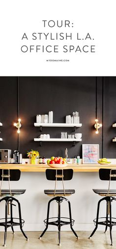 A GORGEOUS office space with stylish décor - you need to take a tour // Greycroft Partners