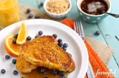 french toast with caramelized cinnamon orange sugar and marmalade syrup - www.afarmgirlsdabbles.com