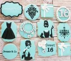 MY Dulce Delights Breakfast at Tiffany's inspired cookies