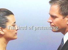 """I'm tired of pretending."" ""So am I."" NCIS Season 6 Episode 8"
