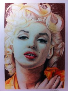 Marilyn Monroe art by Rafaella Roseta | This image first pinned to Marilyn Monroe Art board, here: http://pinterest.com/fairbanksgrafix/marilyn-monroe-art/ || #Art #MarilynMonroe