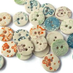 Porcelain Buttons Ceramic Button for Art and by melissaceramics