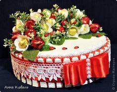 Свит-дизайн 8 марта с нашим праздником Девочки Бумага гофрированная Картон Киндер-сюрприз Ленты фото 18