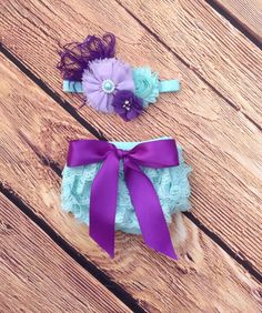Aqua Lavender Purple Lace Bloomer Set, Newborn Bloomers Diaper Cover, Cake Smash, Birthday Outfit, Toddler Baby Girl Bloomers, Lace Bloomers by AvaMadisonBoutique on Etsy
