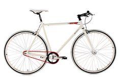 Fitnessbike, KS Cycling, »Essence«, 28 Zoll, weiß 1 Gang (Singlespeed), Freilauf oder Fixed Gear
