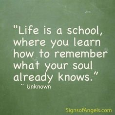 Self discovery is about learning how to remember what your soul already know.