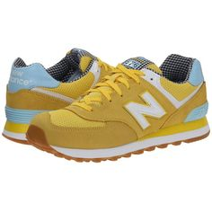 New Balance Classics WL574 - Picnic Collection Women's Classic Shoes (£52) ❤ liked on Polyvore