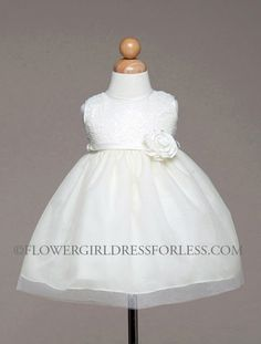 CK_BC946IV - Girls Dress Style BC946-Sleeveless Sequin and Tulle Dress - Infants and Toddler Dresses - Flower Girl Dress For Less