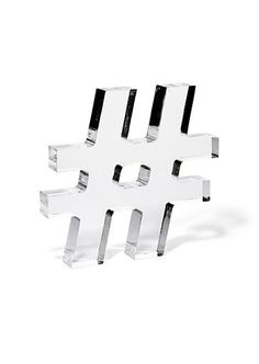 Lucite acrylic hashtag. Cute for office/desk.