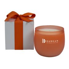 8oz soy candle in coral colored glass available in many scents. Gift box available in kraft, white, black and silver. Ribbon adds a retail touch (available in many colors).CPN-13375799