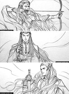 Elf lords of middle-earth (2) by evankart on deviantART