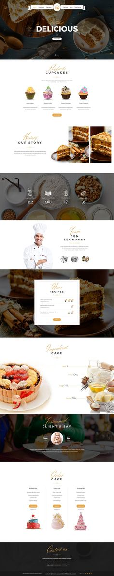 CAKE is wonderful PSD template for Bakery and #Restaurant #websites. #cakeshop Download Now!