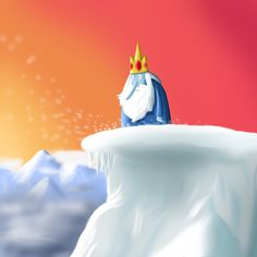 """Ice King is a character from a fairy tale called """"Adventure Time"""". Time Cartoon, Fairy Tales, Superhero, Disney Princess, Disney Characters, Ice King Adventure Time, Destiny, Cartoons, Math"""
