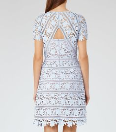 Orchid Blue Ice Lace Dress - REISS