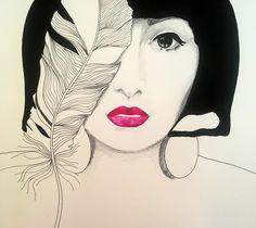 Red Lips | Portrait Illustration