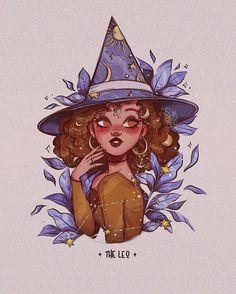 Art Sketches, Art Drawings, Witch Drawing, Arte Sketchbook, Modern Witch, Witch Art, Zodiac Art, Digital Art Girl, Cartoon Art