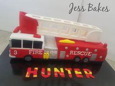 Fire truck cake by Jess Bakes  www.jessbakes.net