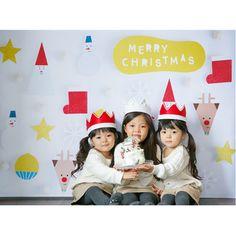 ◆数量&期間限定予約受付 おうち写真館 Santa & friends  WHITE Lサイズ(縦1030 × 横1456 mm)