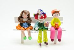 handmade a dolls made by Soap molding on white background Stock Photo