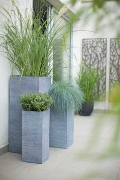 34 Tall Garden Troughs to Tickle Your Creative Bone - Planters - Ideas of Plante. 34 Tall Garden T Large Garden Planters, Garden Troughs, Patio Plants, Outdoor Planters, Garden Pots, Outdoor Gardens, Planter Pots, Planter Garden, Tall Planters