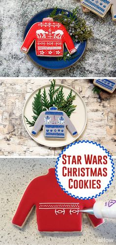 These are the ULTIMATE Star Wars cookie for the holidays! AT ATs and R2D2 on an ugly Christmas sweater? Yes, please! Watch the tutorial and how you can make these yourself here: http://www.ehow.com/how_12343066_cookies-wookie.html?utm_source=pinterest.com&utm_medium=referral&utm_content=freestyle&utm_campaign=fanpage
