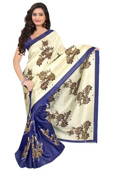 Easy to drape, this printed saree is a smart choice for women who love to portray a traditional look. Wear this for your everyday in corporate offices, functions, Weddings, Marriages and also for corp