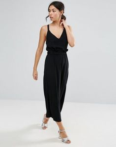 ASOS Jumpsuit with Frill and Wide Leg